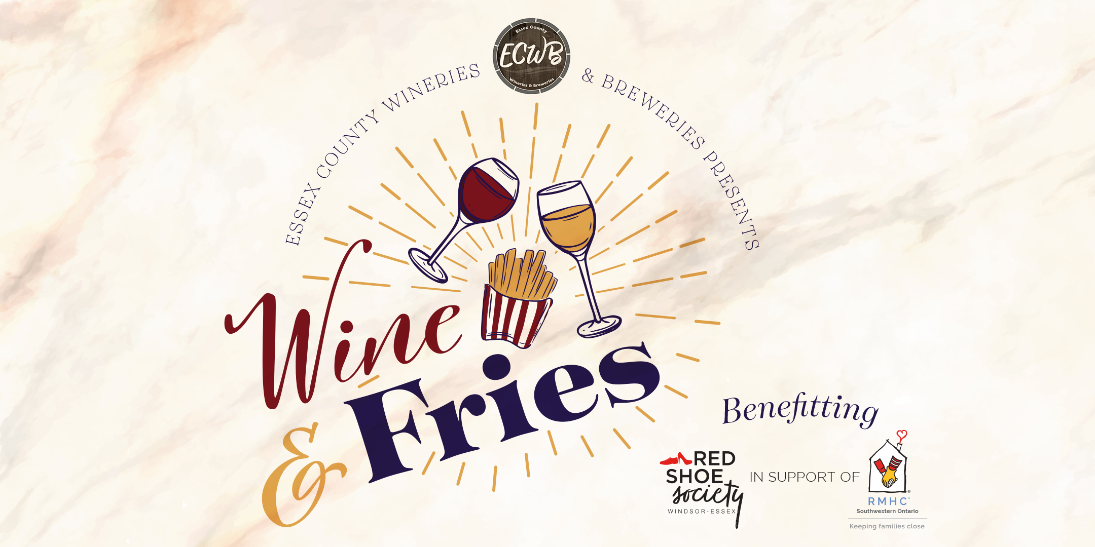 Wine and Fries Poster