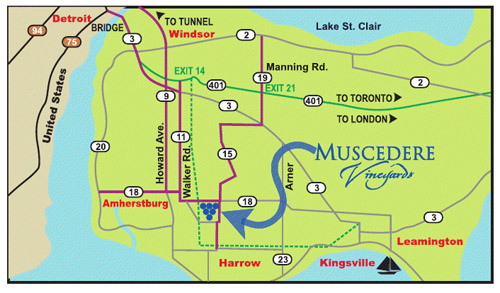 Muscedere Map